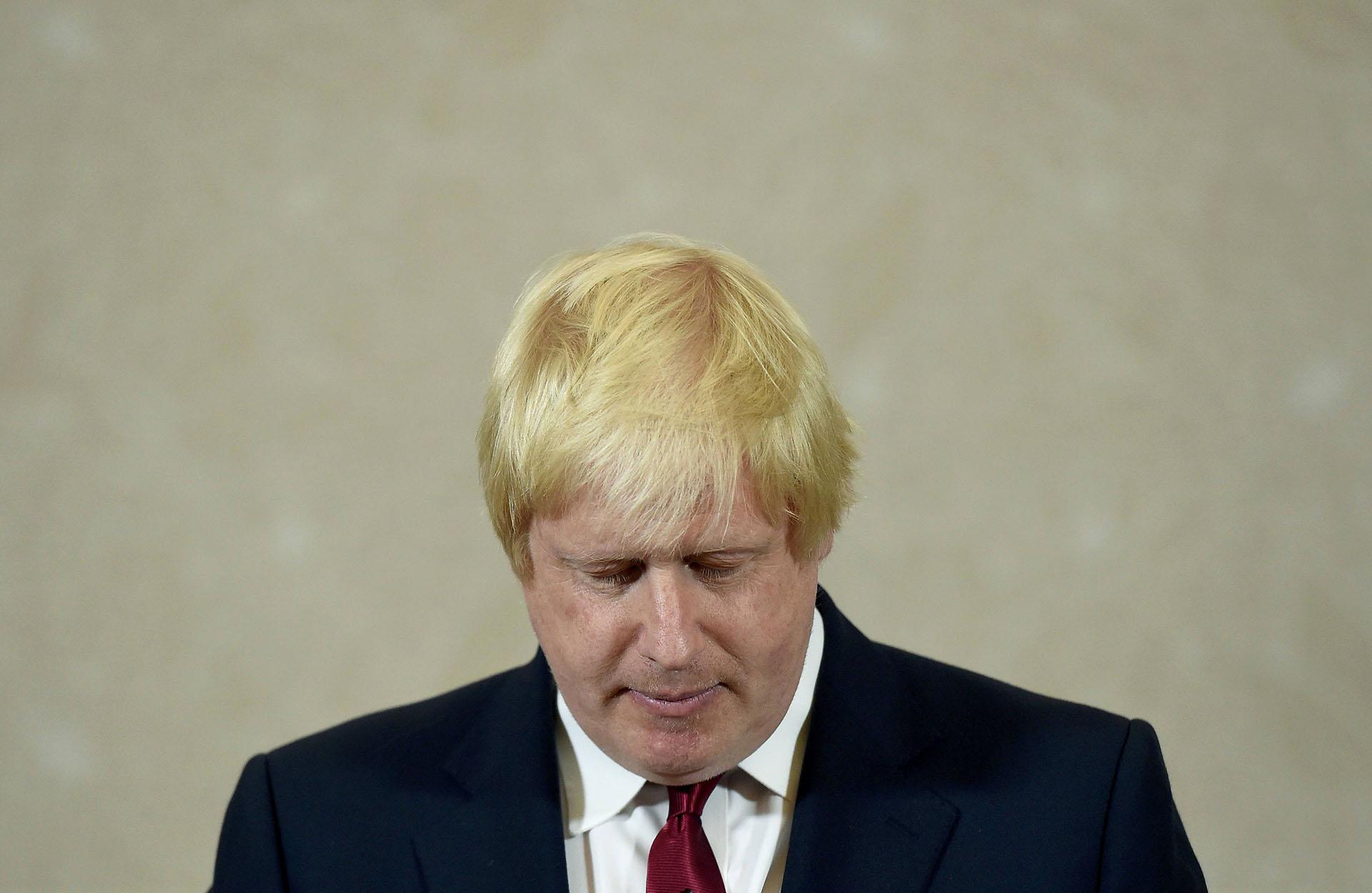 Boris Johnson, líder victorioso de la campaña por el Brexit, anunció la renuncia asu candidatura como primer ministro de Reino Unido (AFP)