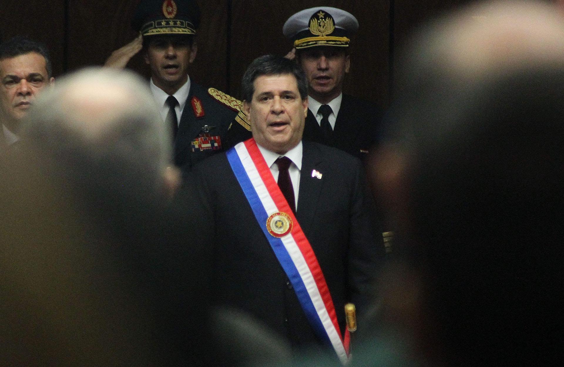 """Horacio Cartes se manifestó contra la designación de Venezuela en la presidencia pro témpore del Mercosur: """"El mundo es testigo de abusos a los DDHH en Venezuela"""", señaló (EFE)"""