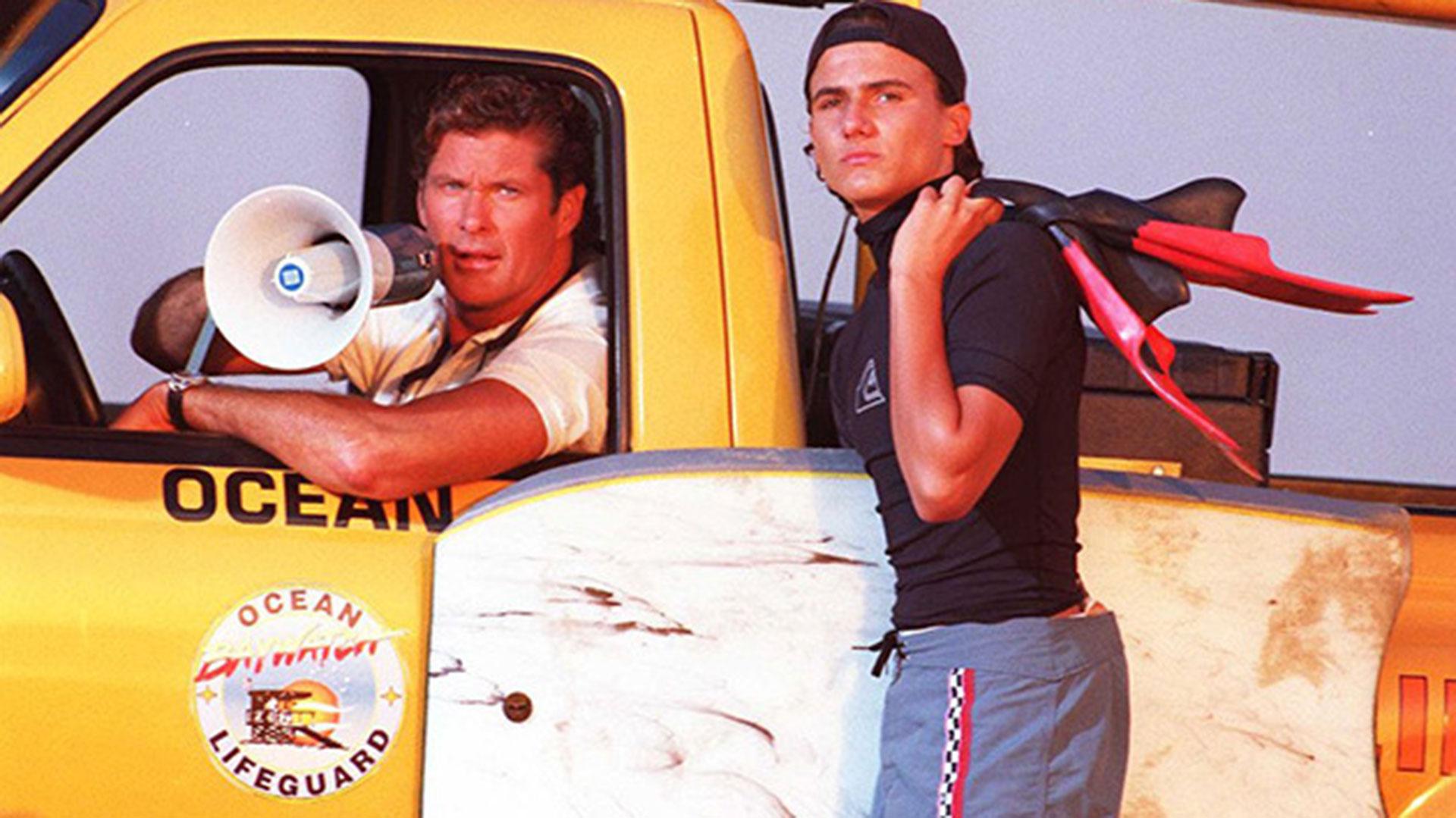 David Hasselhoff y Jeremy Jackson