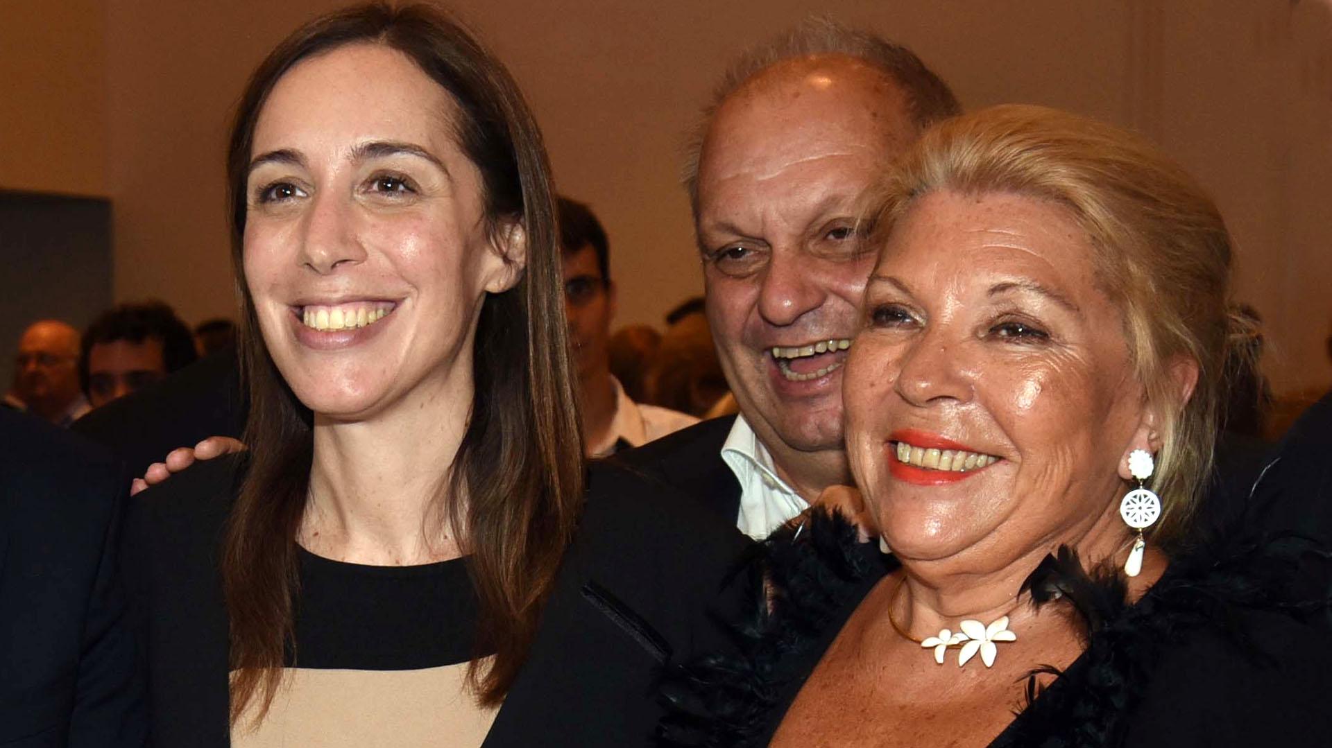 Con María Eugenia Vidal y Hernán Lombardi (NA)