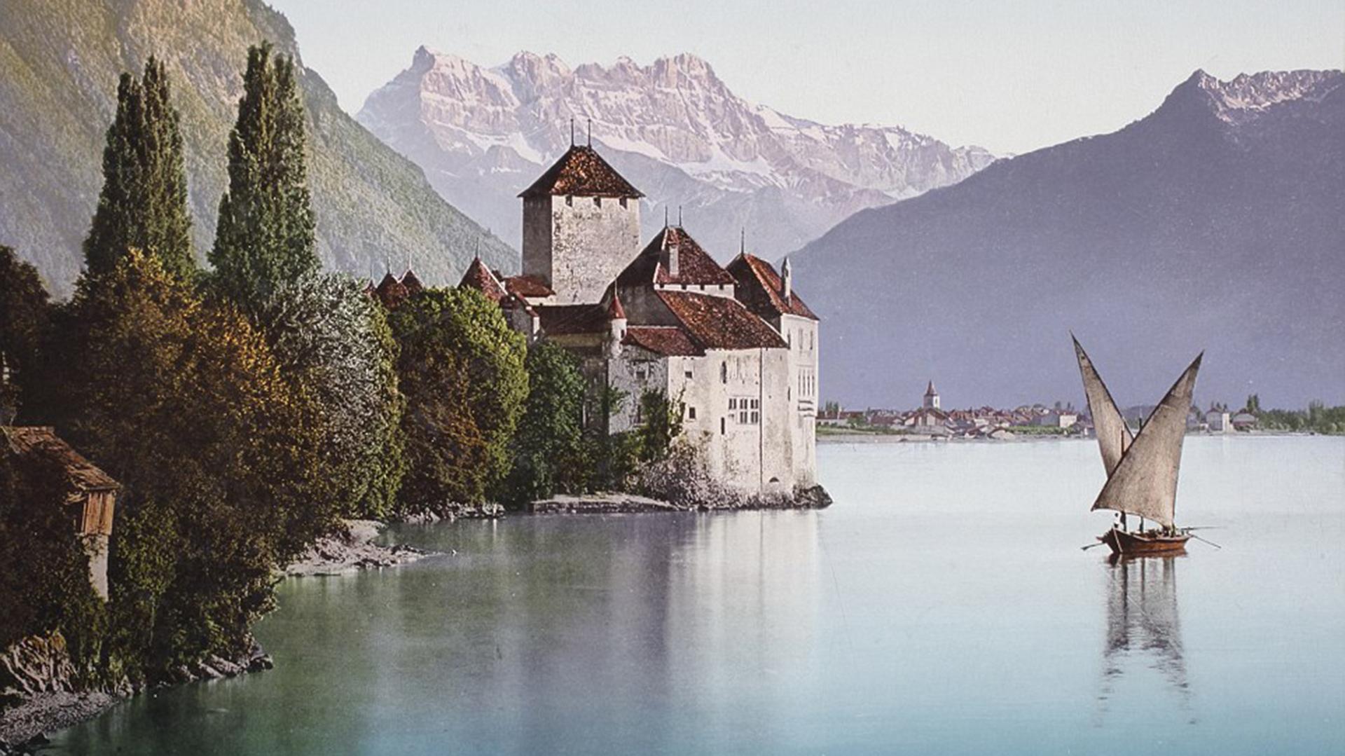 Chateau de Chillon, en el Lago de Ginebra, en Suiza