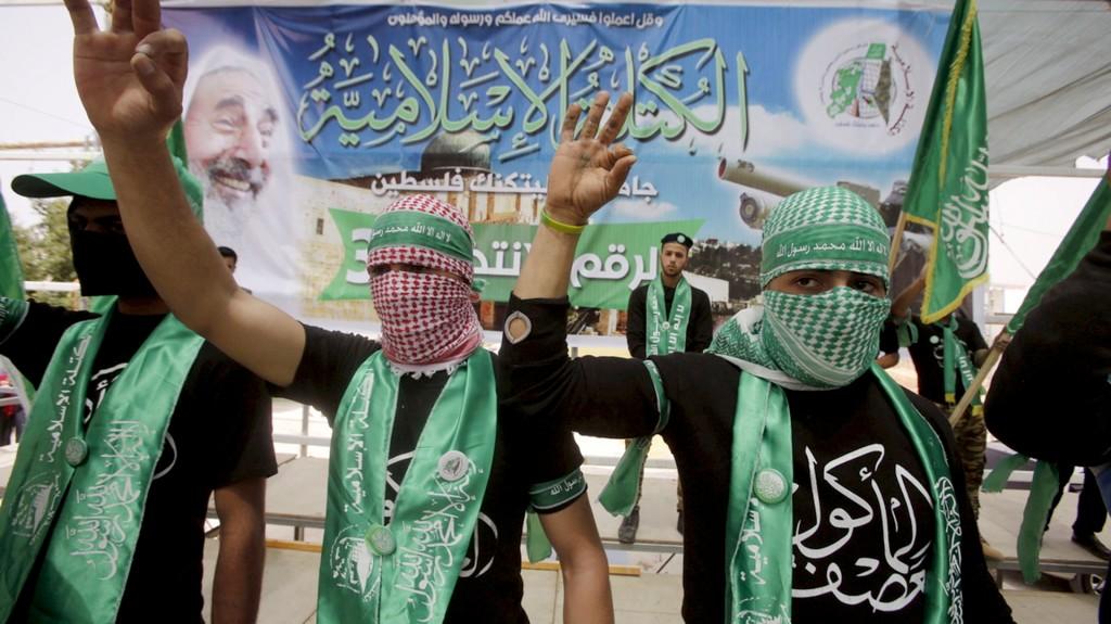 Miembros de la organización terrorista palestina Hamas (Reuters)