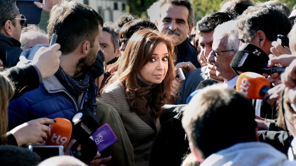 Cristina Kirchner estuvo ayer en Comodoro Py (Nicolás Stulberg)