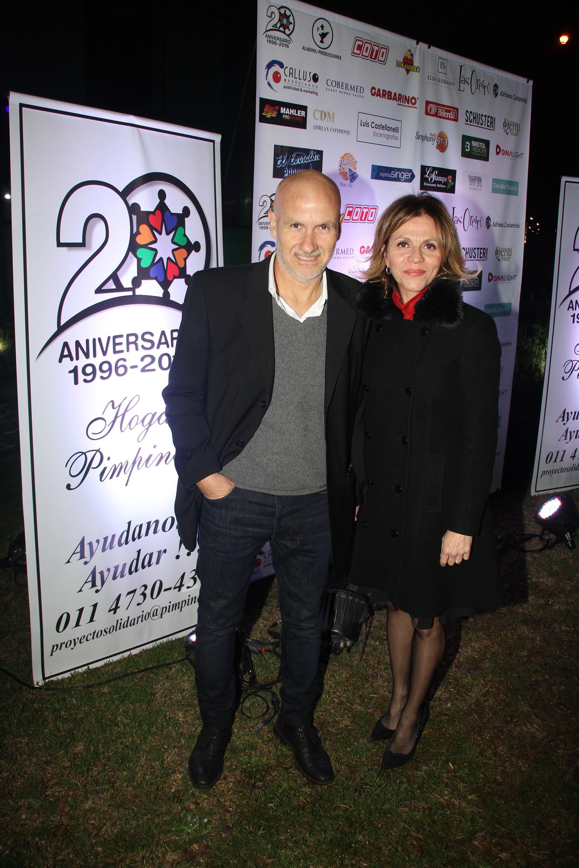 Marcela Morelo y su pareja