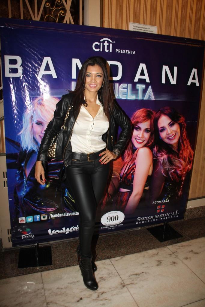 Paola Miranda, presente en el primer show de Bandana