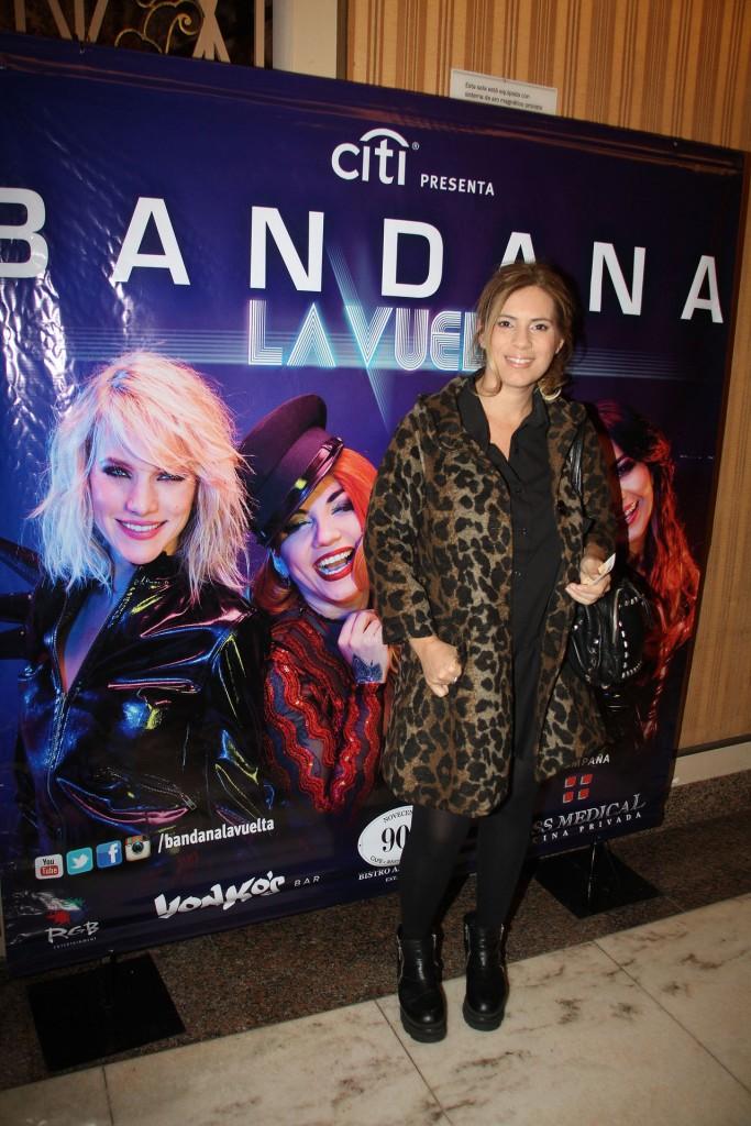 Mercedes Scapola en el show de Bandana