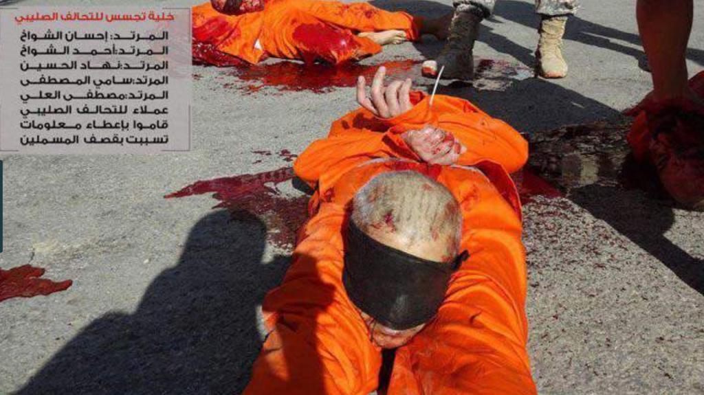 Las sanguinarias fotosfueron distribuidas por las redes yihadistas