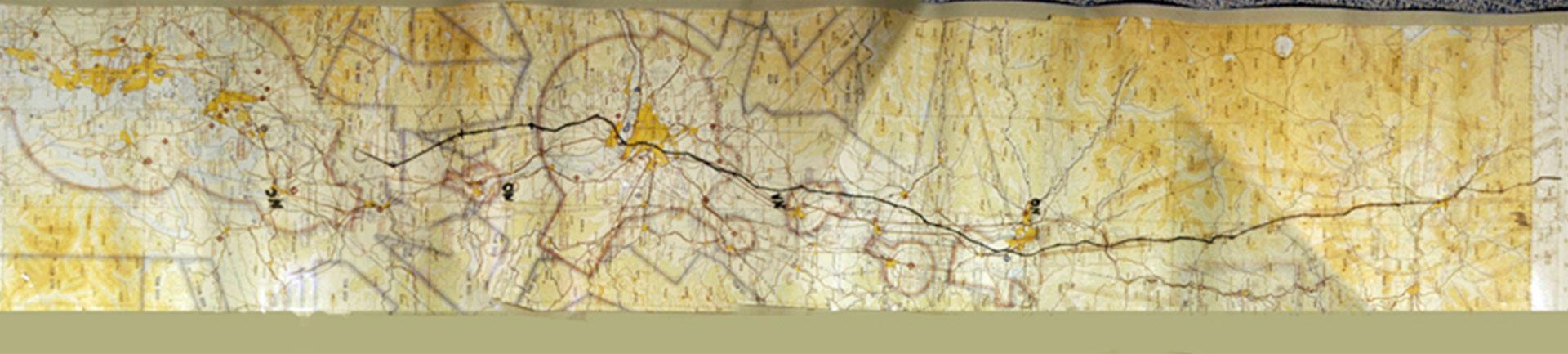 El mapa trazado por el FBI para intentar determinar dónde pudo caer Cooper, teniendo en cuenta la meteorología, las coordenadas de su salto y las características del paracaídas que tenía consigo (FBI)