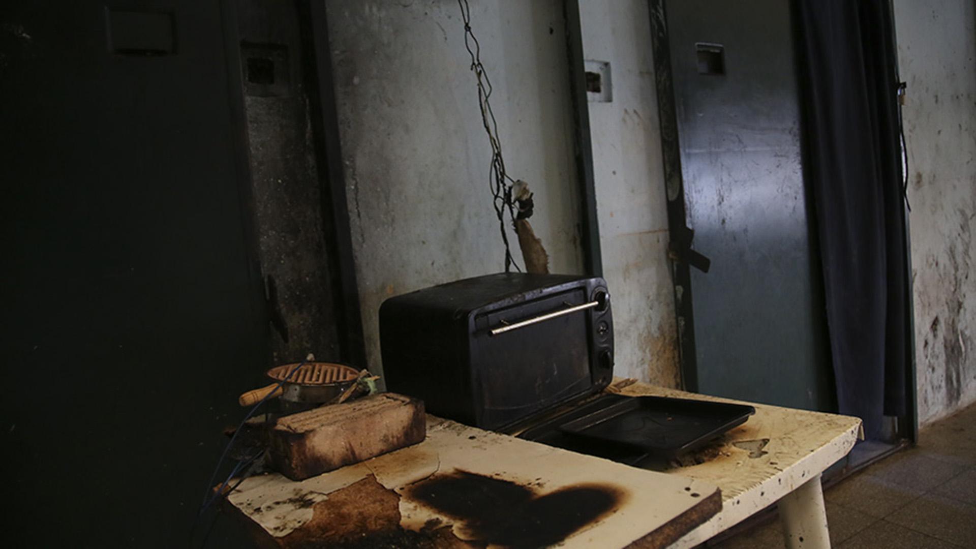 La módica cocina para todo un pabellón.