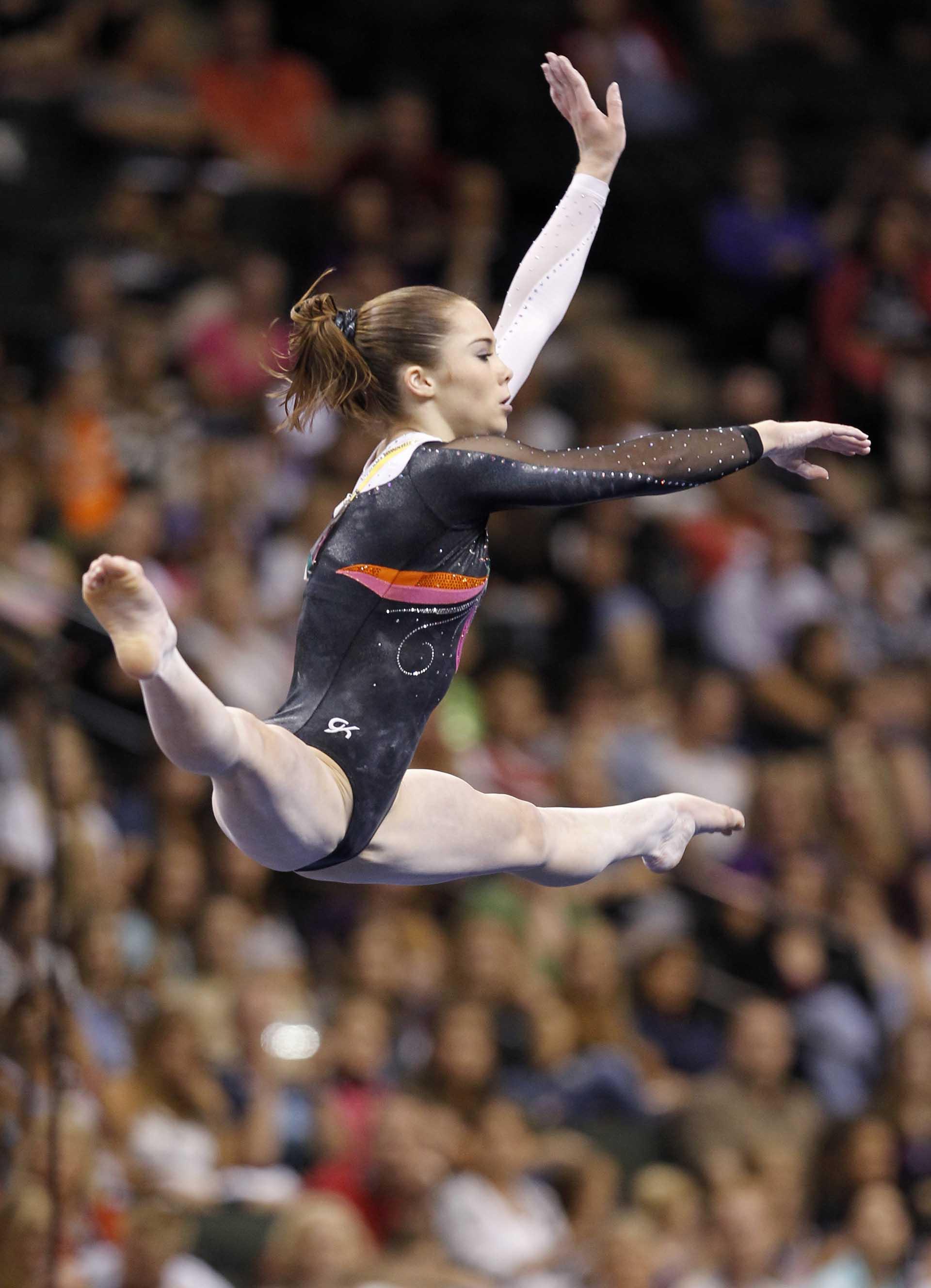 Maroney en sus tiempos de gimnasta (AP)