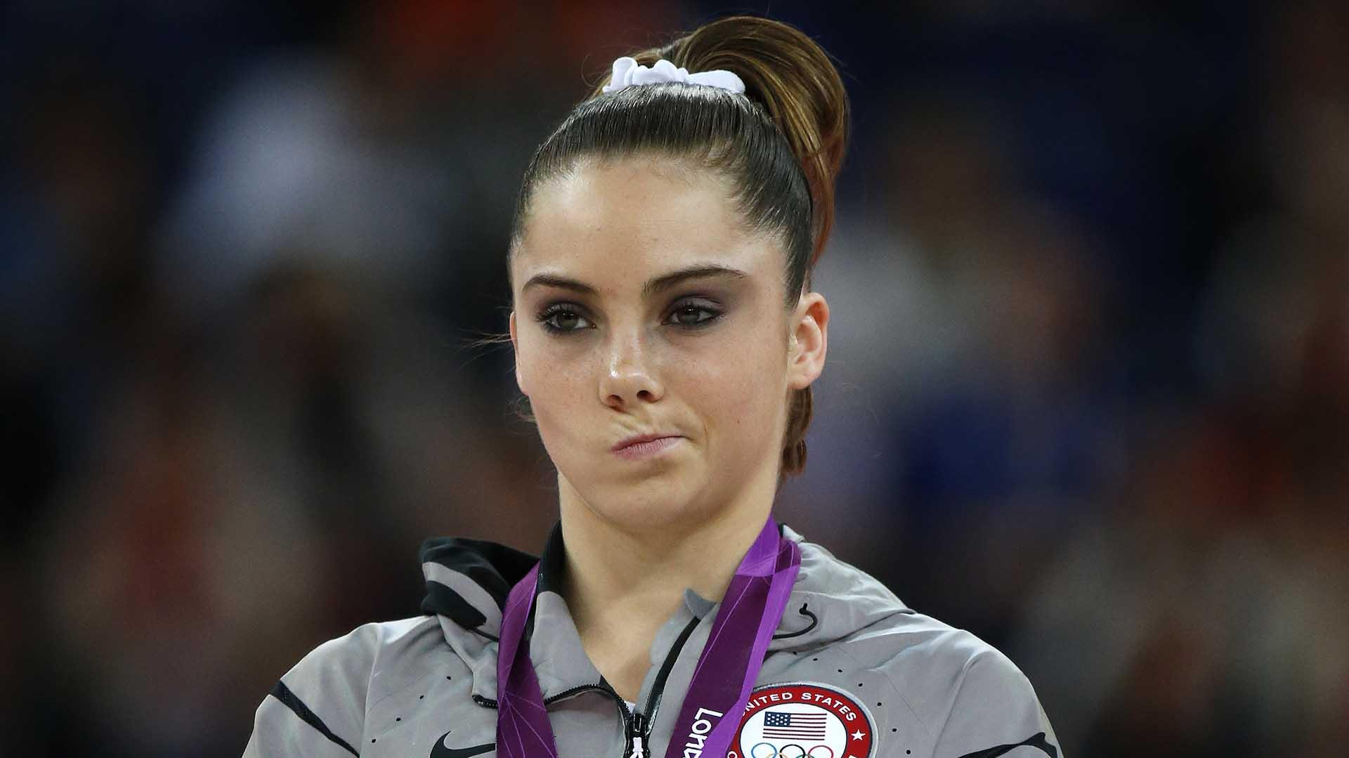 La norteamericana McKayla Maroney en sus tiempos de gimnasta olímpica (AFP)