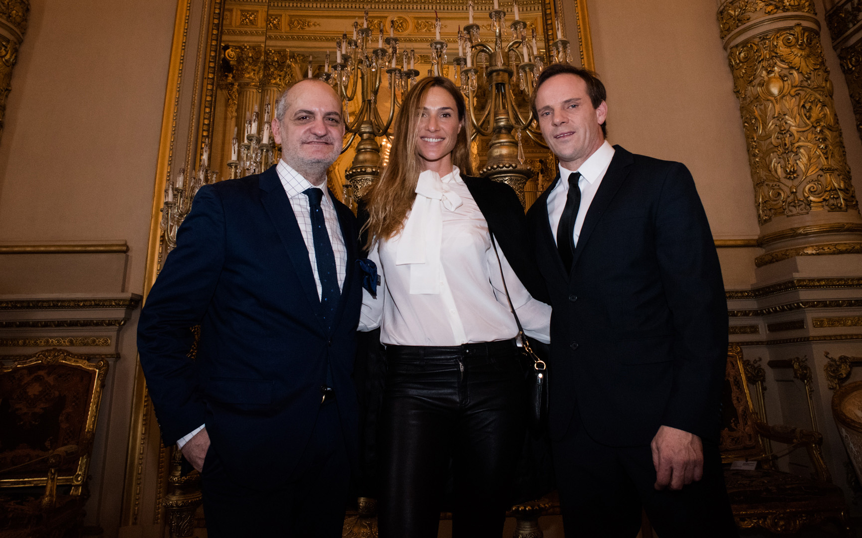 Laurencio Adot, Lara Bernasconi y Thiago Pinheiro