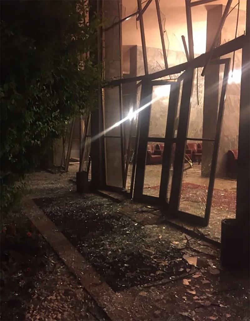 Daños en el Parlamento turco por el bombardeo