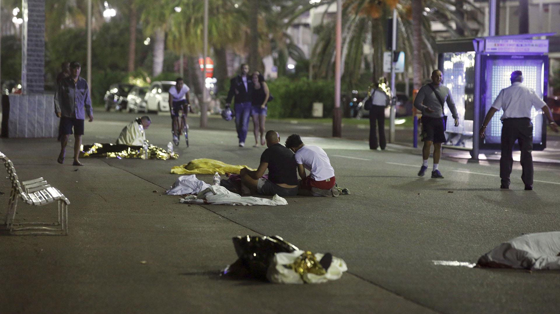 Las víctimas del ataque sobre el Paseo de los Ingleses de Niza(Reuters)
