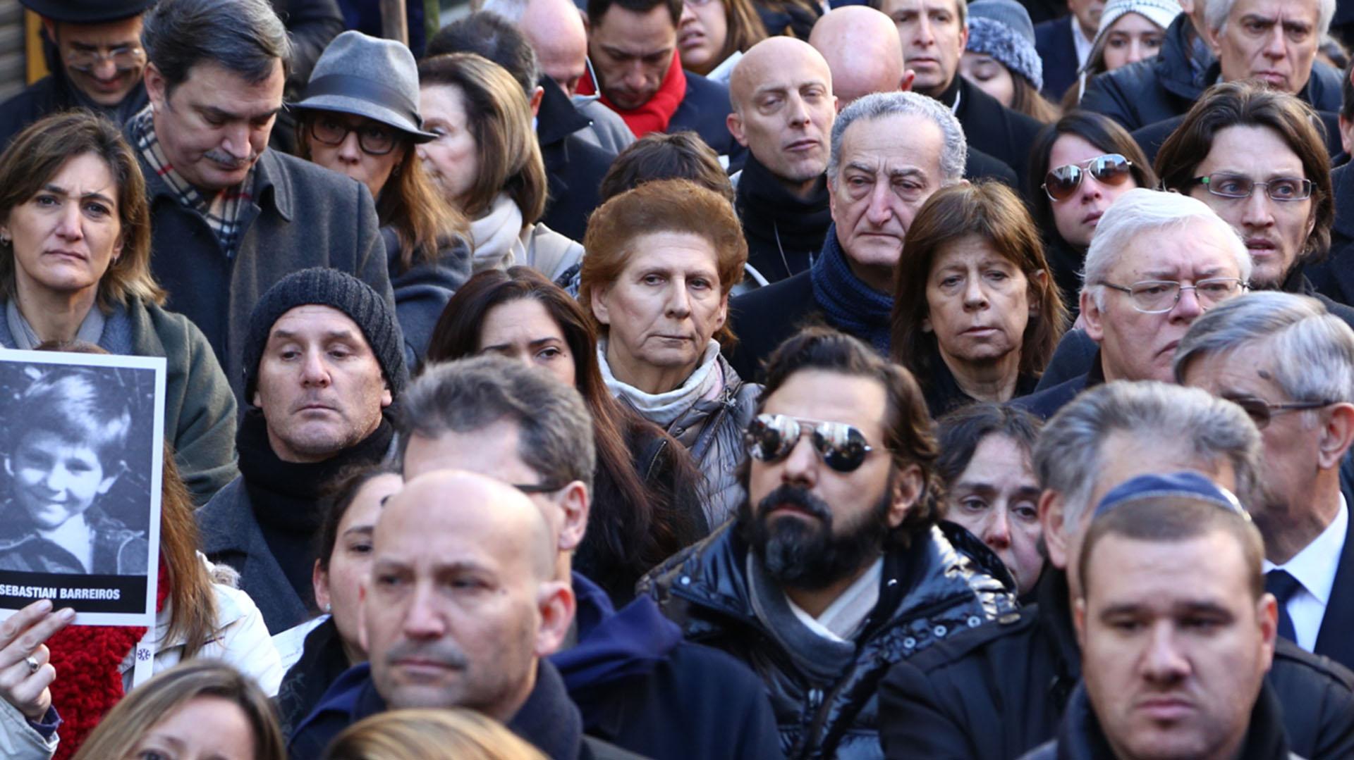 Sara Garfunkel, la madre de Alberto Nisman, presente en el acto (Infobae)