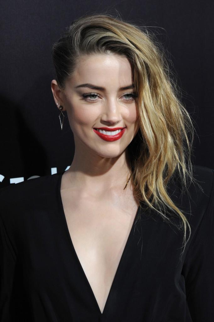 Amber Heard, la modelo y ex novia de Johnny Deep posee la simetría y armonía de los elementos de sus facciones que le producen el rostro perfecto (Shutterstock)