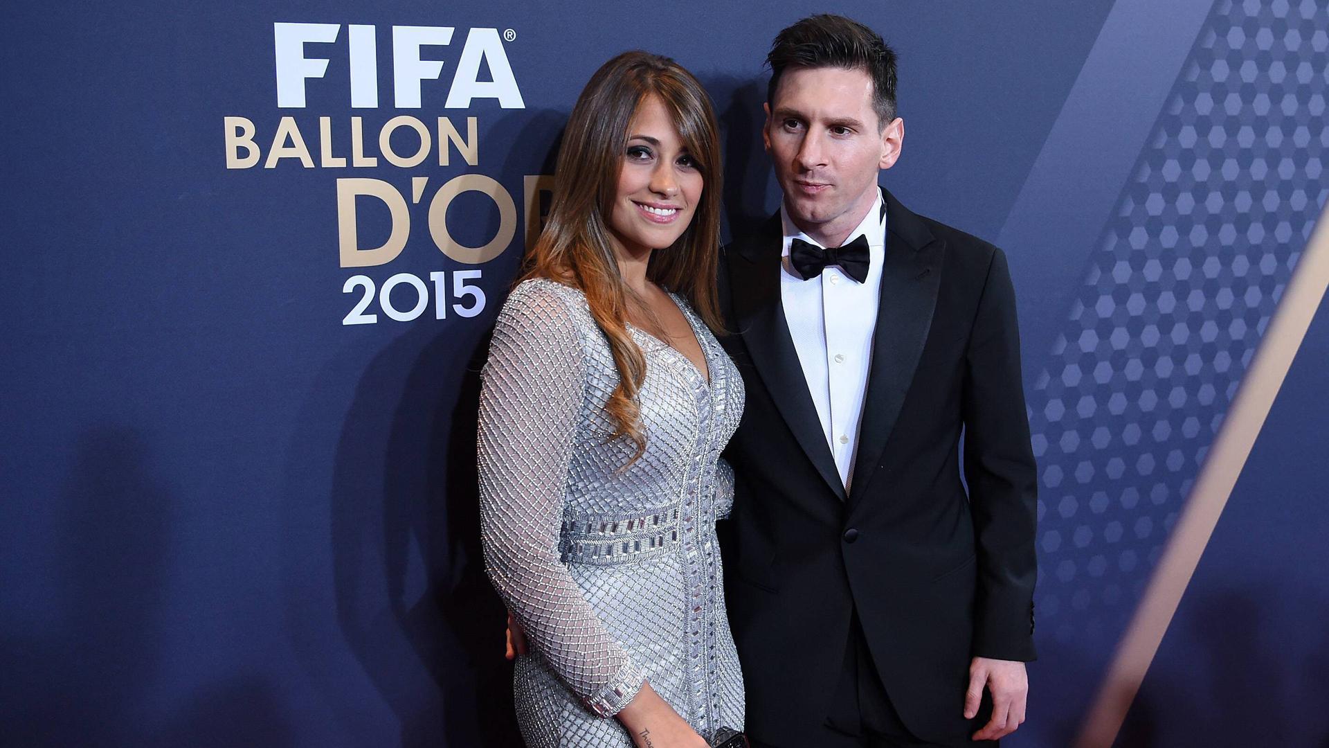 Antonella Roccuzzo siempre acompaña a Lionel Messi a las galas del Balón de Oro en Suiza