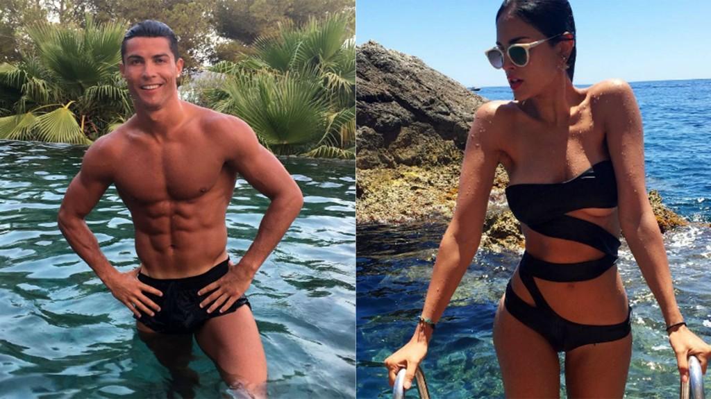 El futbolista portugués Cristiano Ronaldo y la actriz mexicana Eiza González