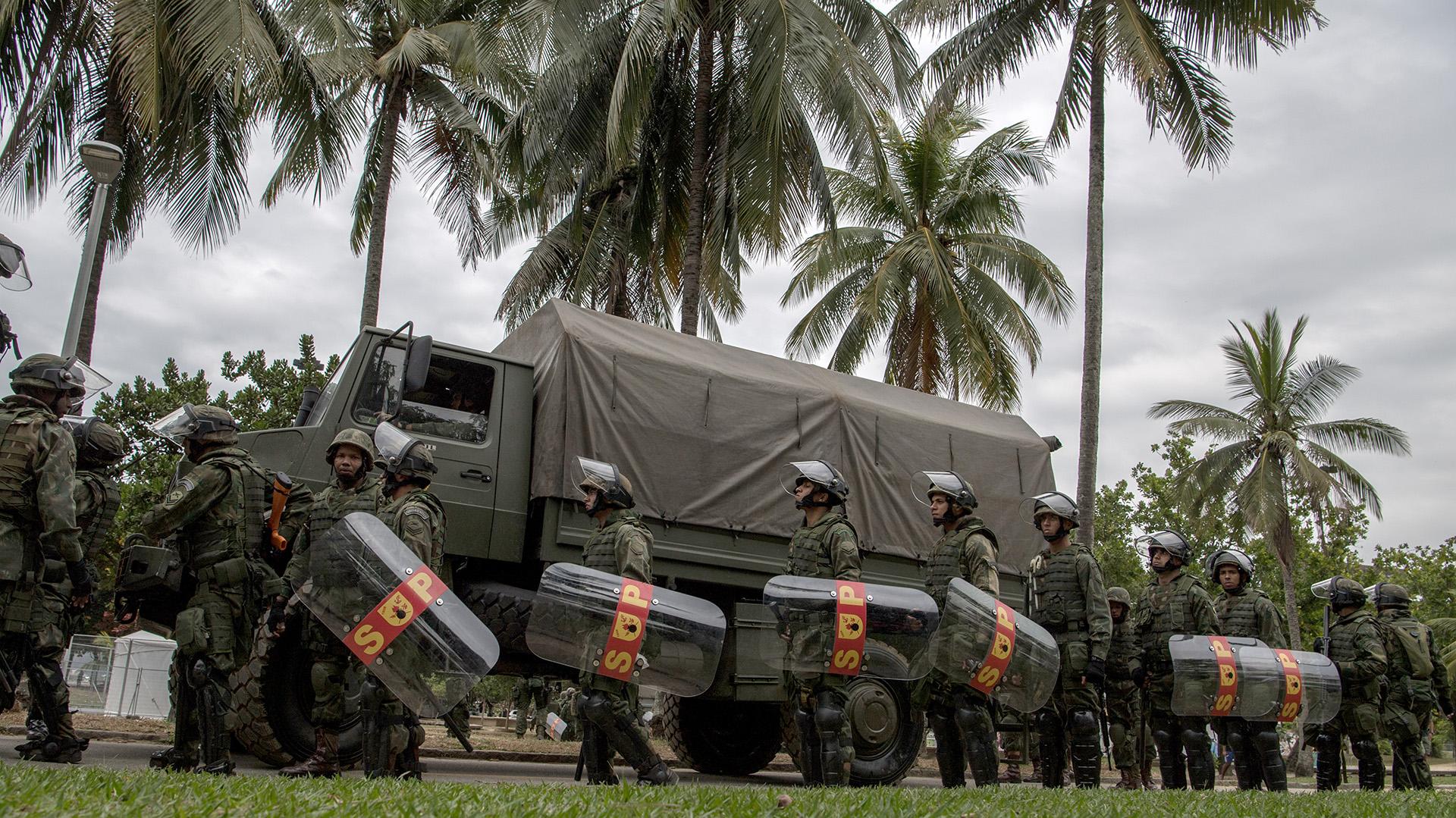Además de la hipótesis de un atentado terrorista, se esperan eventuales disturbios políticos motivados por el polémico proceso de impeachment a la suspendida presidenta Dilma Rousseff (AFP)
