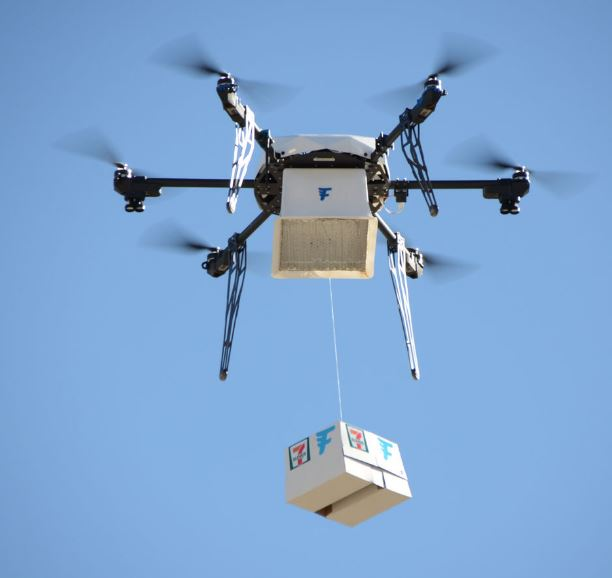 El drone voló por 1600 metros para entregar su carga (Flirtey)