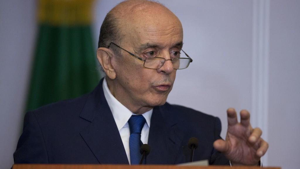 José Serra, canciller de Brasil (AP)