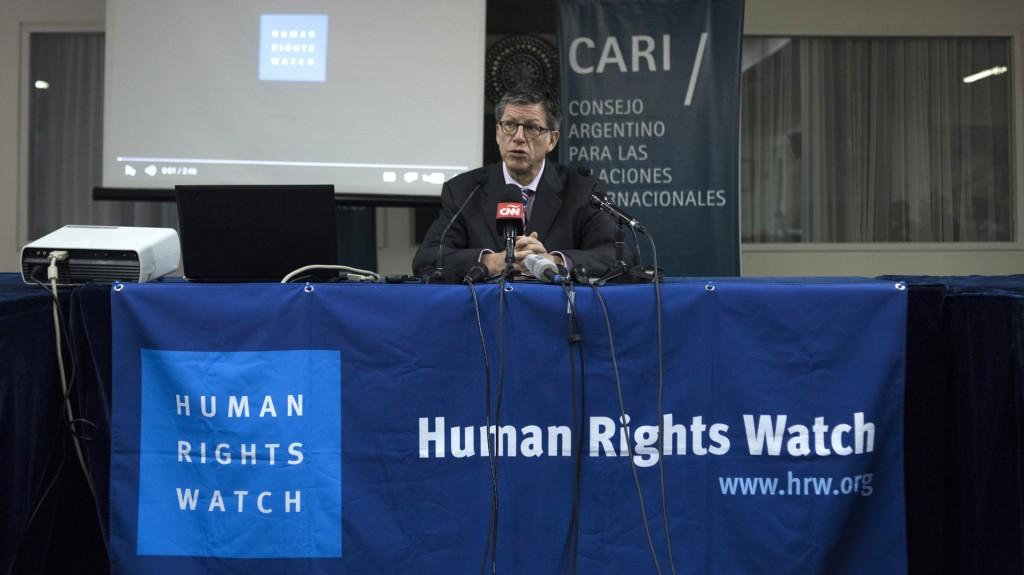 Human Rights Watchpresentó su informe en la sede del CARI en Buenos Aires (Adrián Escandar)