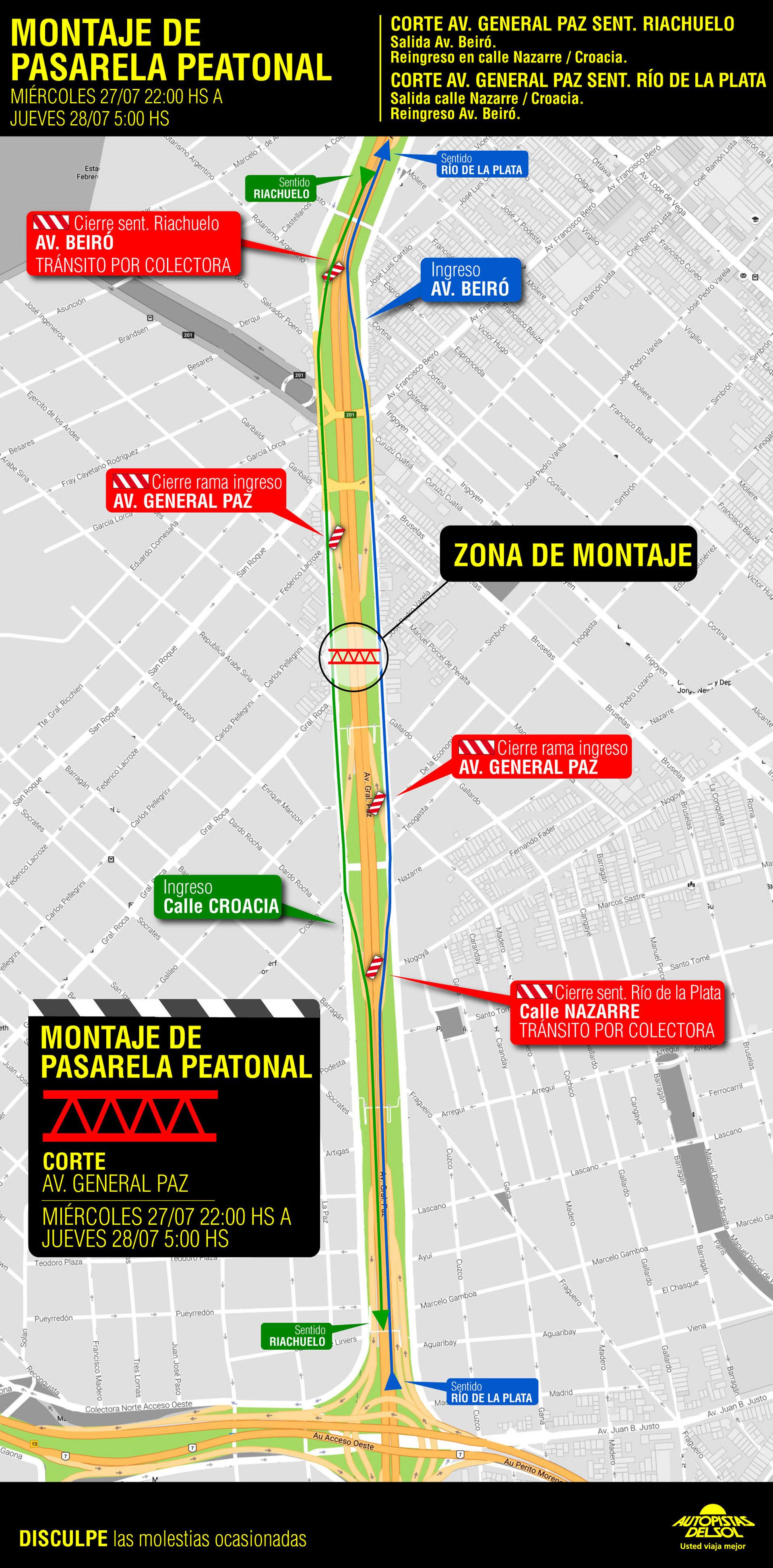 El mapa de las obras