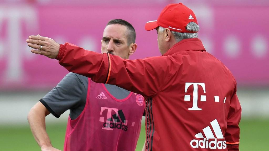 Ribery agradece que Ancelotti haya tomado las riendas del Bayern Múnich (AP)