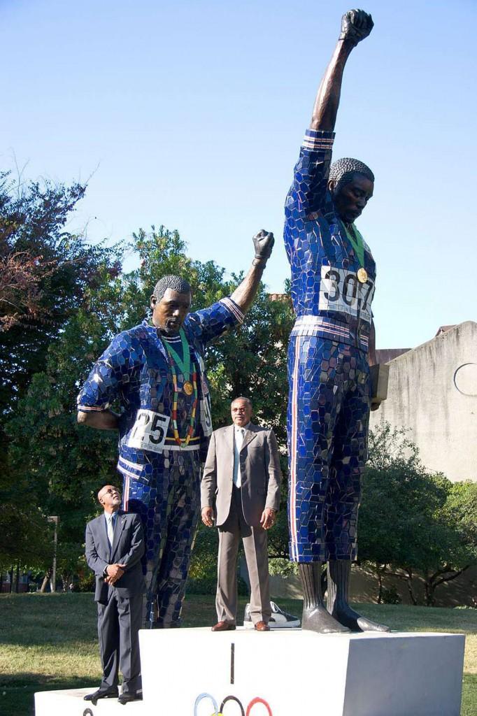 El monumento en la Universidad de San José State que inmortaliza el Black Power