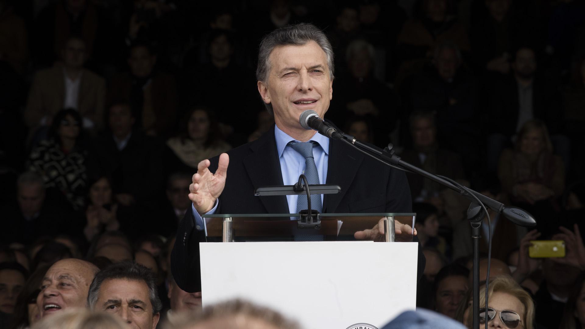 El discurso de Mauricio Macri (Adrián Escandar)