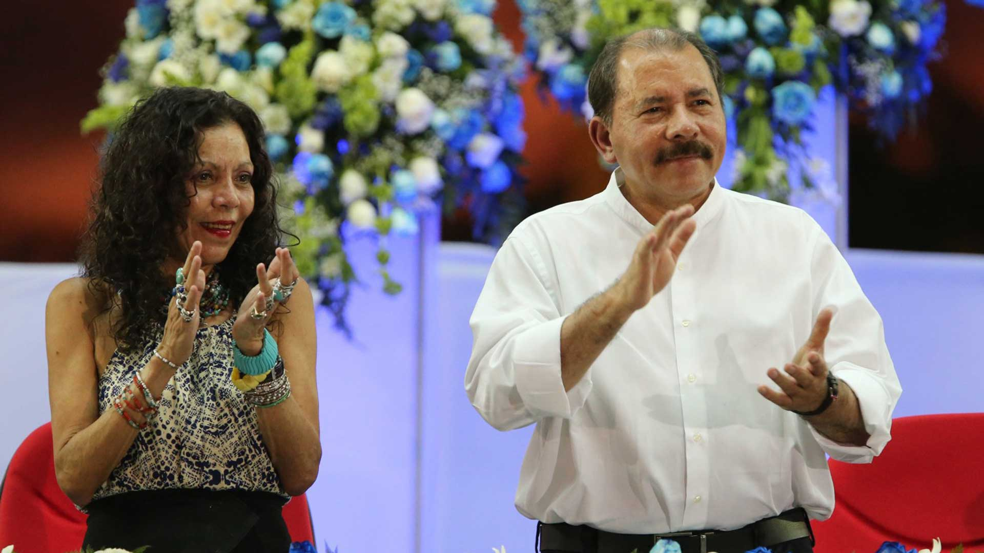 Daniel Ortega y su esposa, Rosario Murillo, la pareja presidencial de Nicaragua
