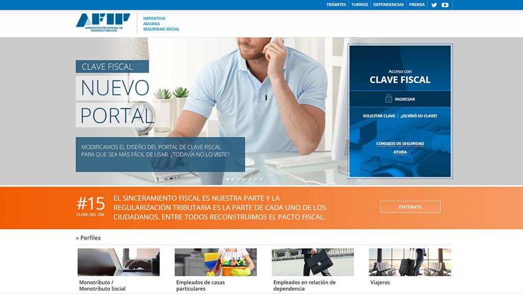 nueva web AFIP 1920