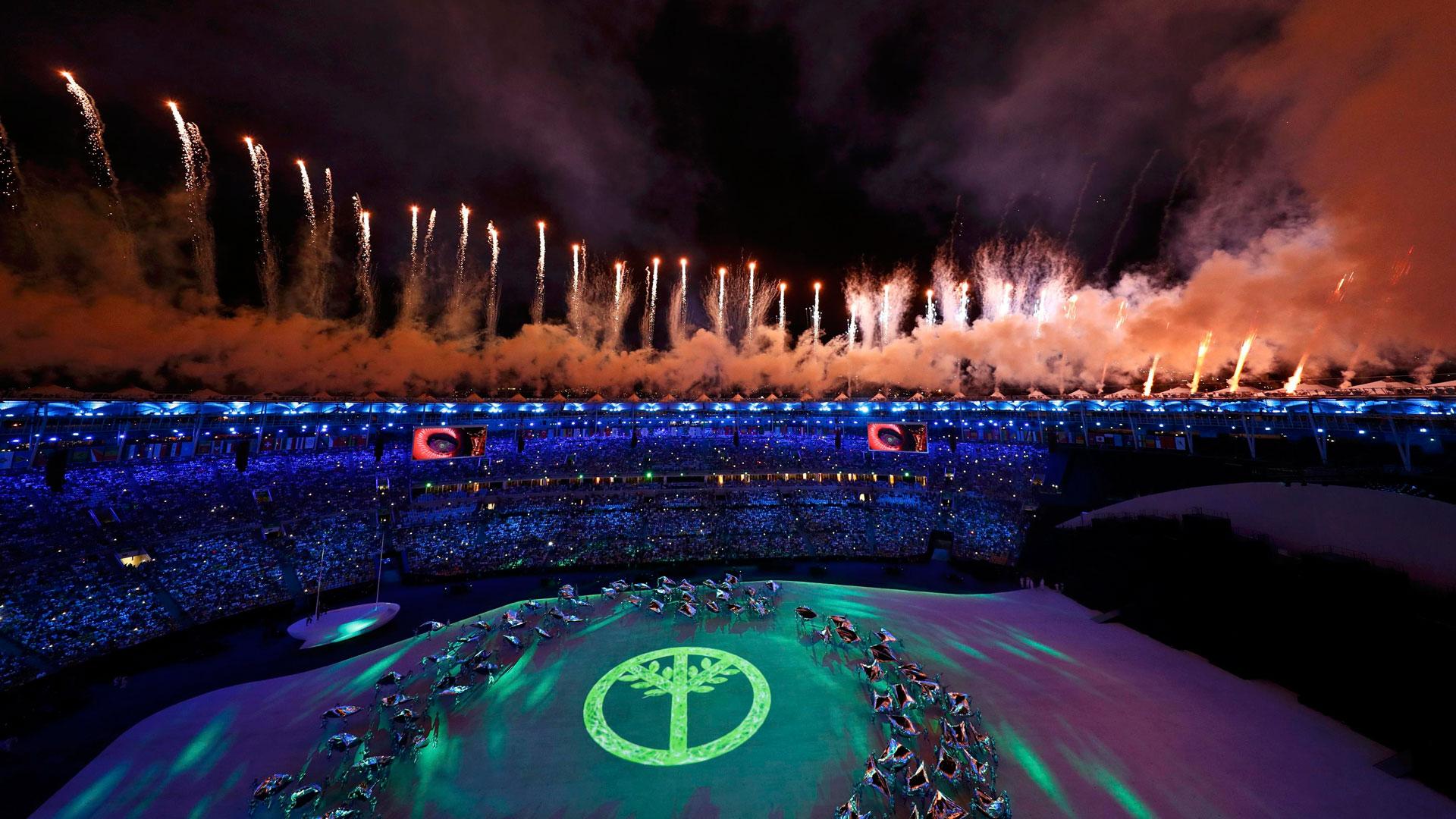 Se representó la llegada de las distintas culturas que hoy habitan Brasil (Reuters)