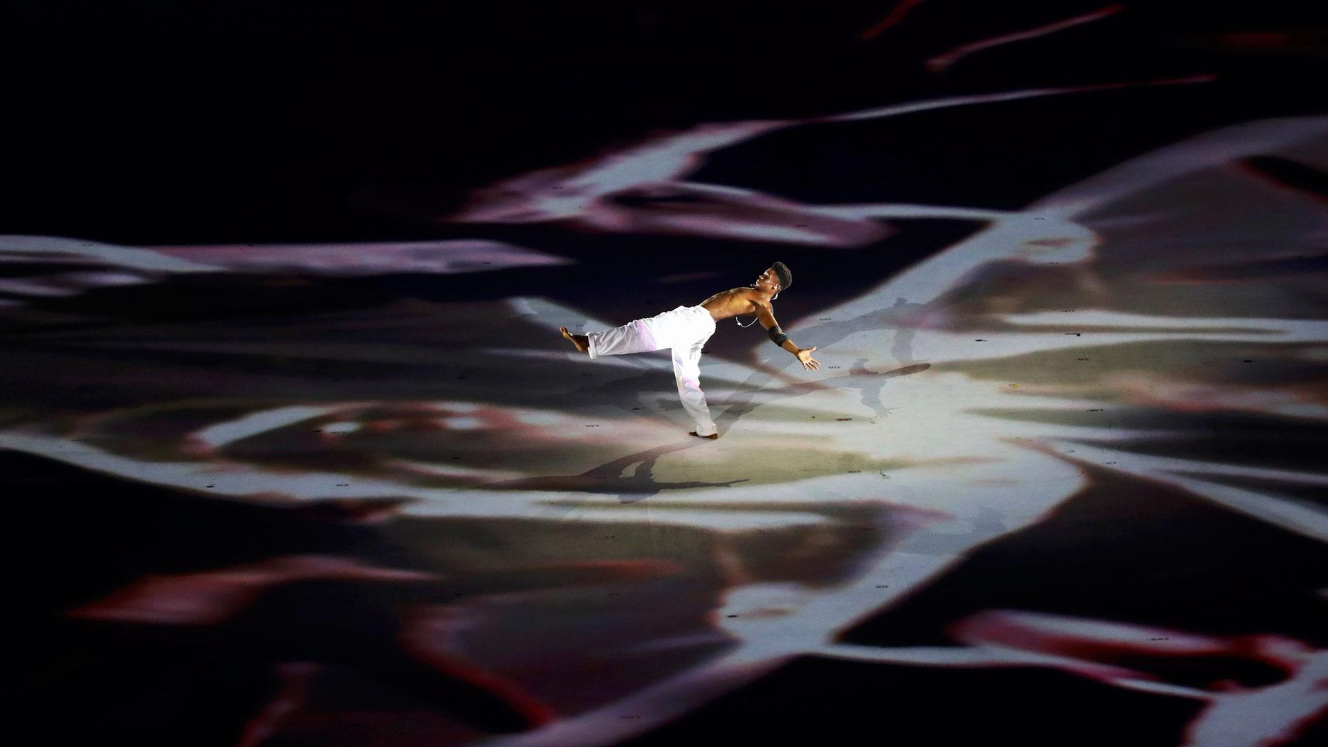 El capoeira también fue parte del show (Reuters)