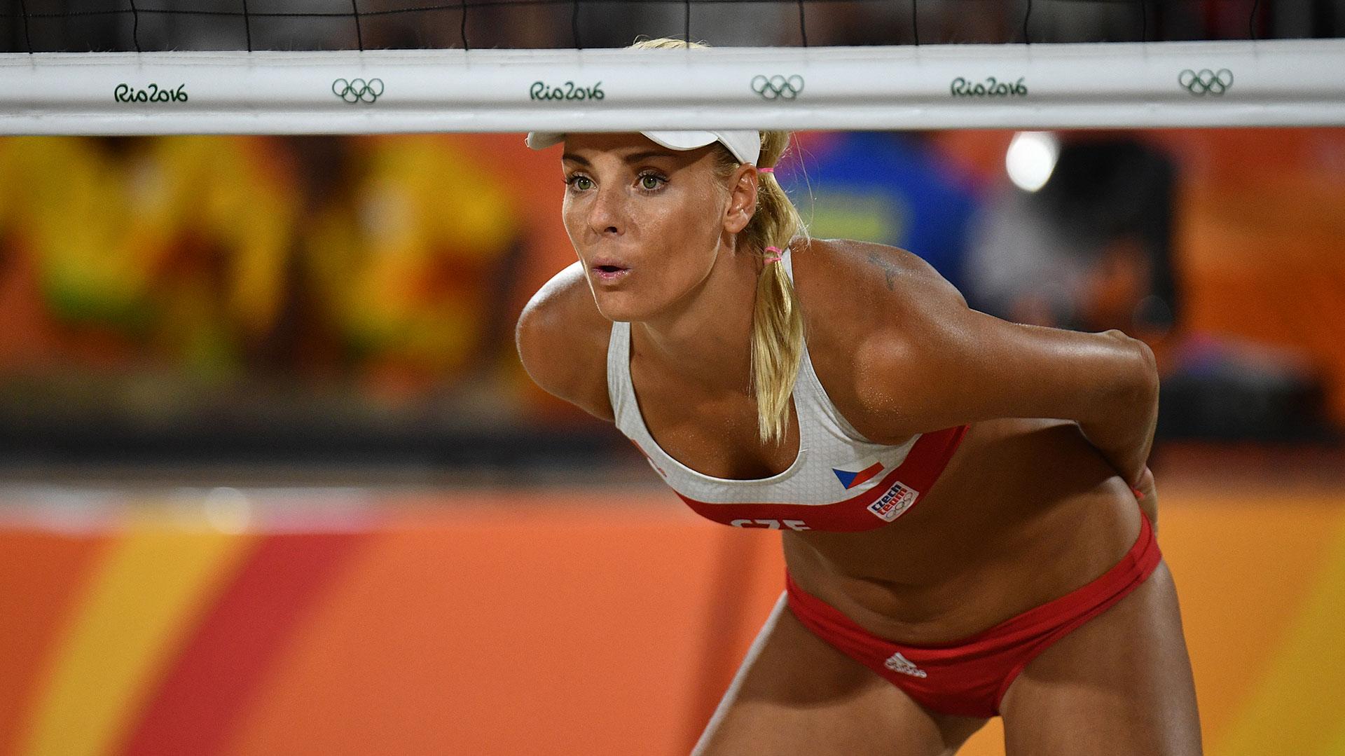 La checa Marketa Slukova en el partido frente a España (Reuters)