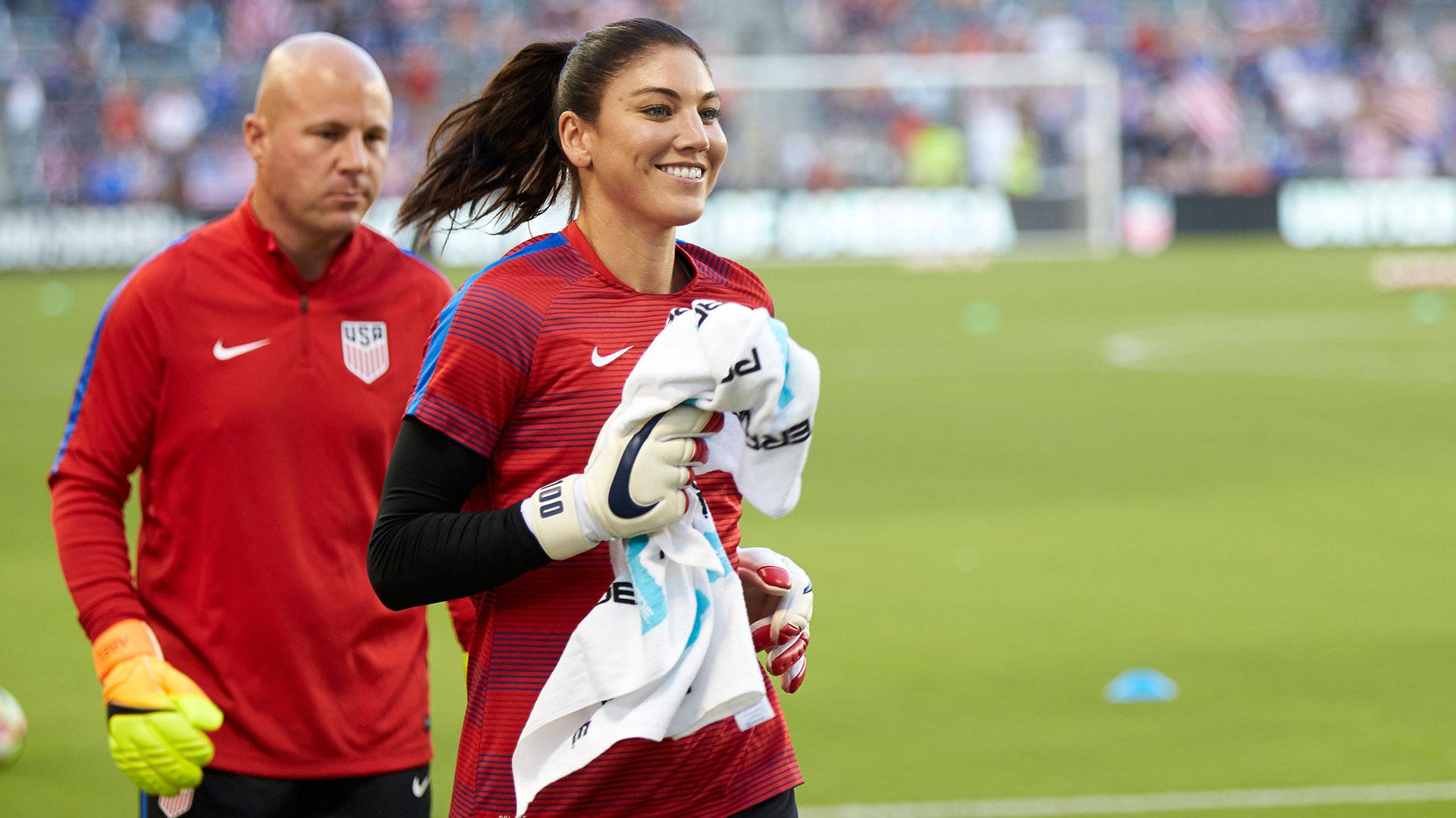 Hope Solo, arquera de la selección estadounidense de fútbol femenino (AP)