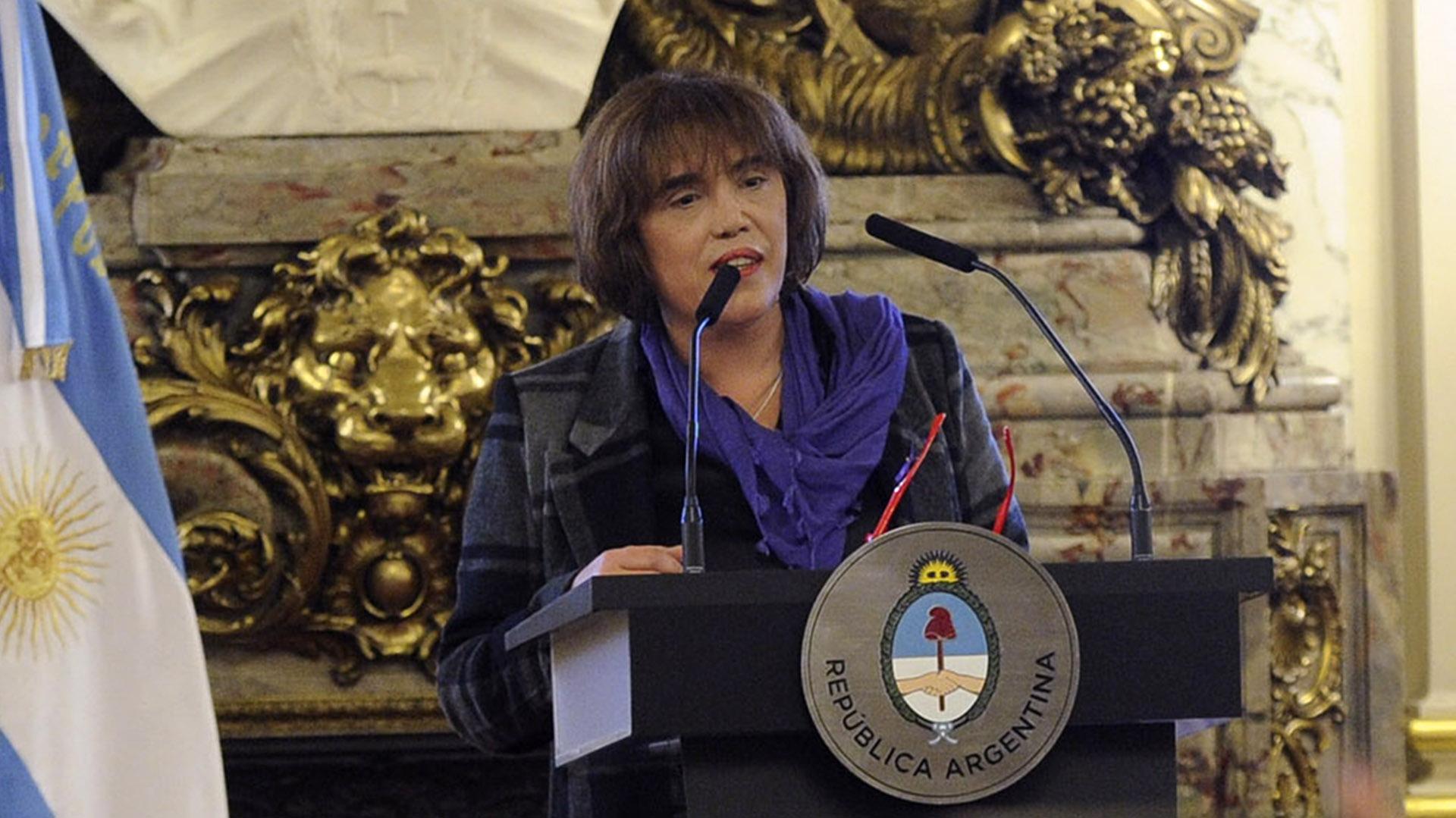 Fabiana Túñez, presidenta del Instituto Nacional de las Mujeres (Télam)