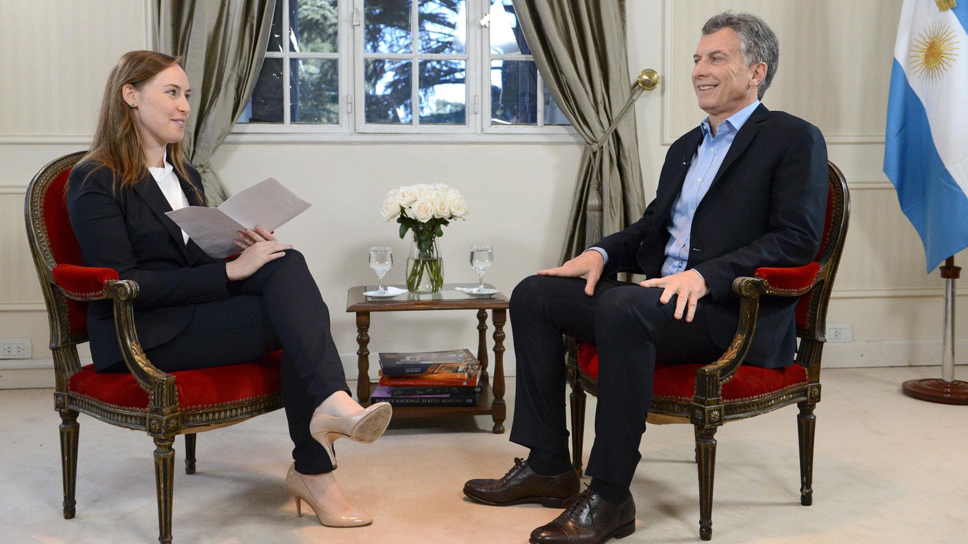 Mauricio Macri en la entrevista que brindó al sitio BuzzFeed.