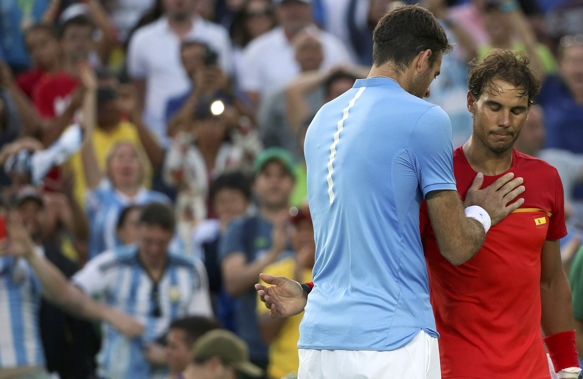 El recuerdo del triunfo de Juan Martín sobre Nadal en los Juegos Olímpicos de Río (Reuters)