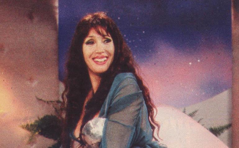 """Una de las grabaciones de """"A la cama con Moria"""", en 1991"""