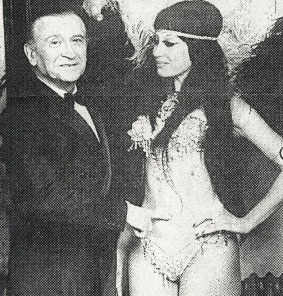 Moria con Adolfo Stray, uno de los grande capocómicos del teatro de revistas porteño