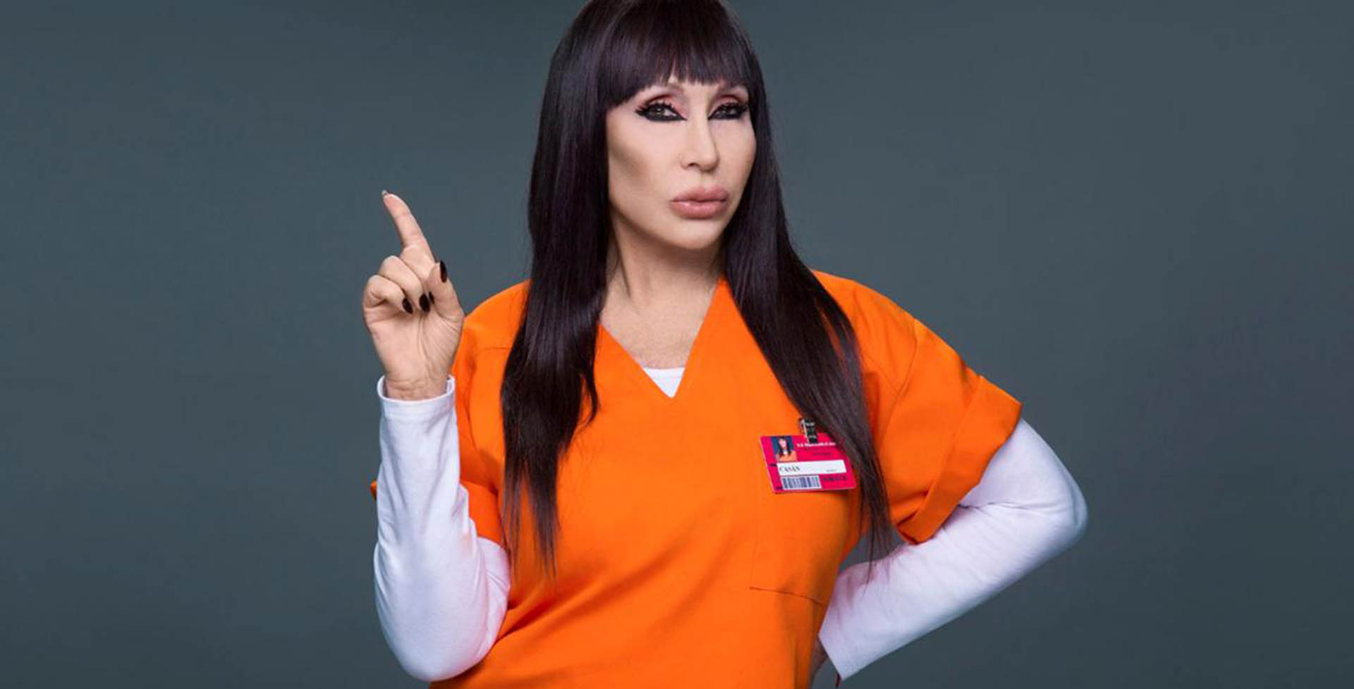 Moria fue convocada para promocionar la última temporada de Orange is the new black