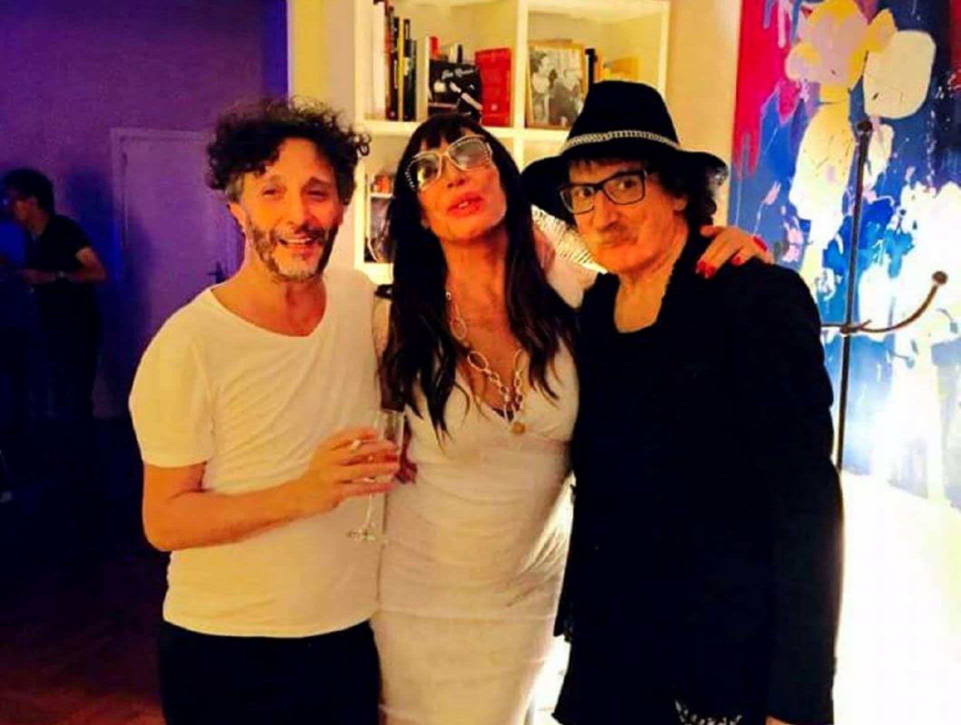 Moria Casán junto a Fito Páez y Charly García