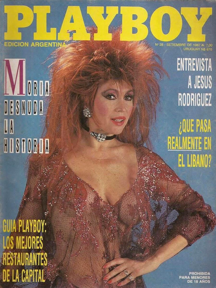Moria en la portada de Playboy (1987)