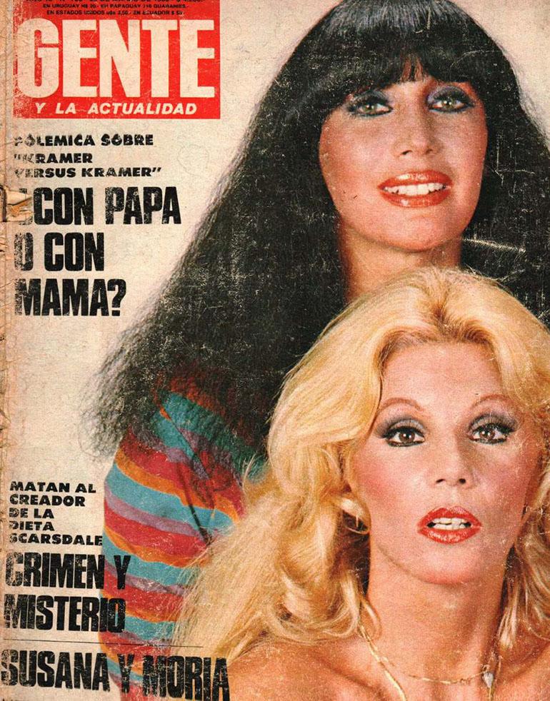 Moria Casán y Susana Giménez en la tapa de revista Gente