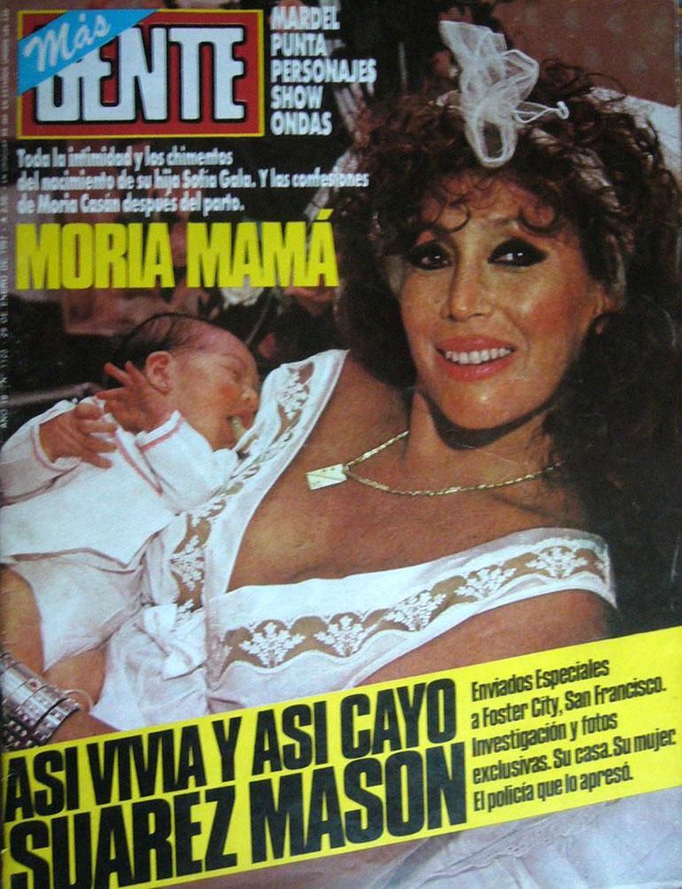 Moria Casán en la tapa de Gente junto a su hija Sofía Gala