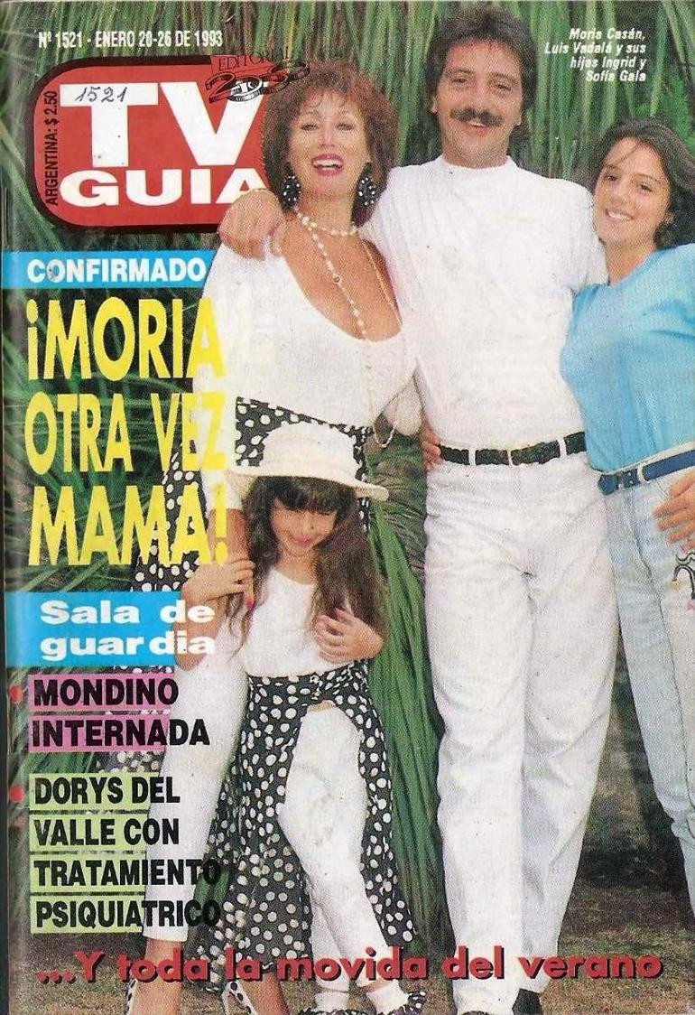 Moria Casán junto a su hija, Sofía Gala, quien por entonces era su pareja, Luis Vadalá
