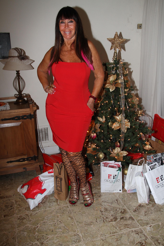 Moria Casán festejando la Navidad en 2012