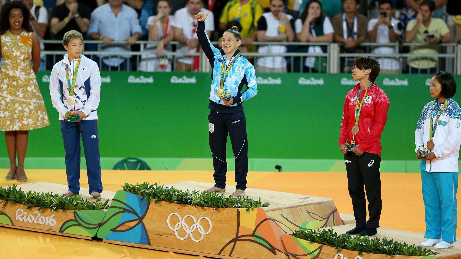 Paula Pareto, la yudoca ganadora del en los Juegos Olímpicos (Nicolás Stulberg)
