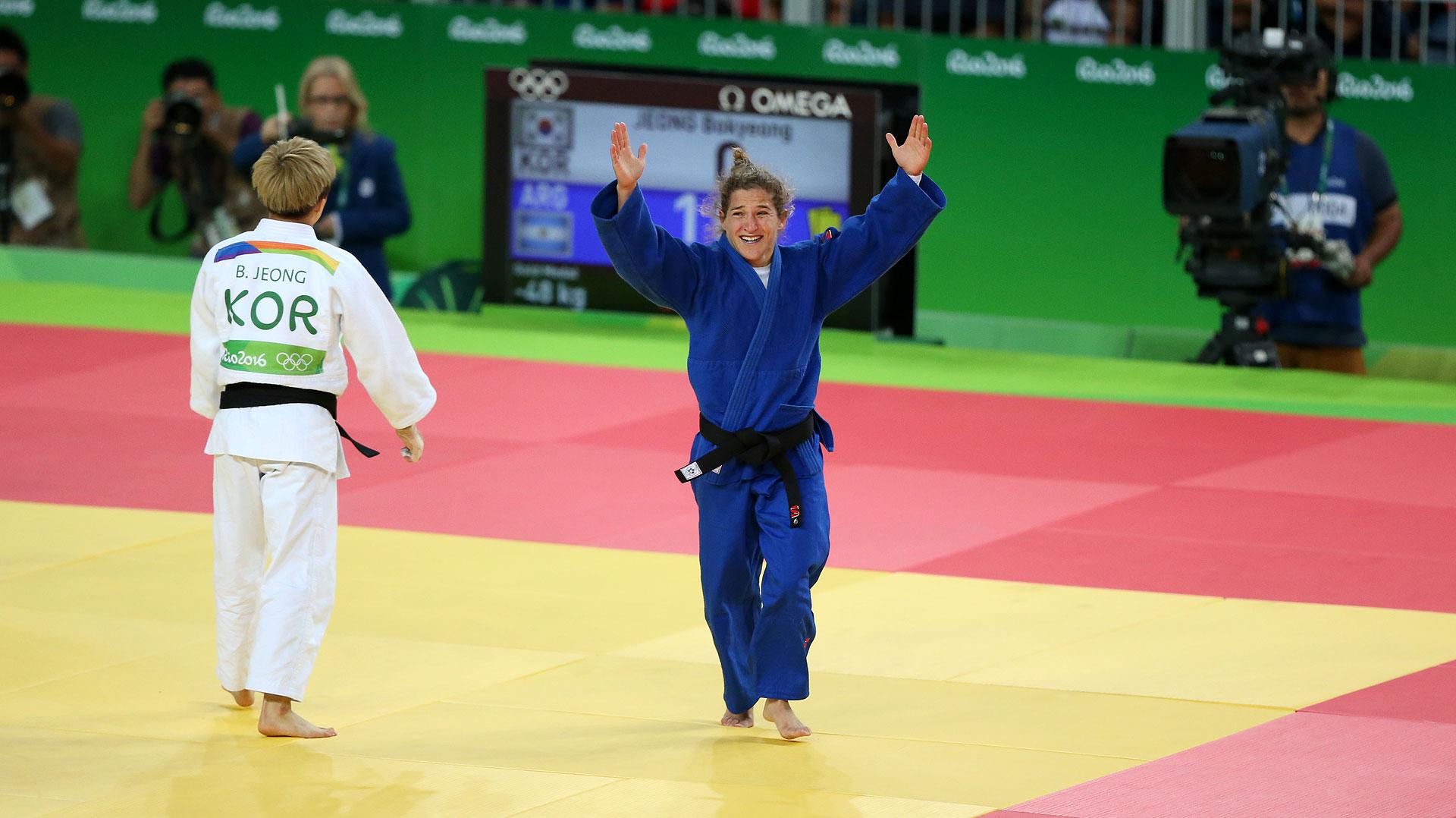 Paula Pareto venció a Jeong y consiguió el oro olímpico (Nicolás Stulberg)